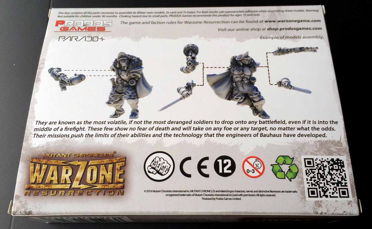 Warzone Resurrection: Bauhaus Blitzers unboxing caja