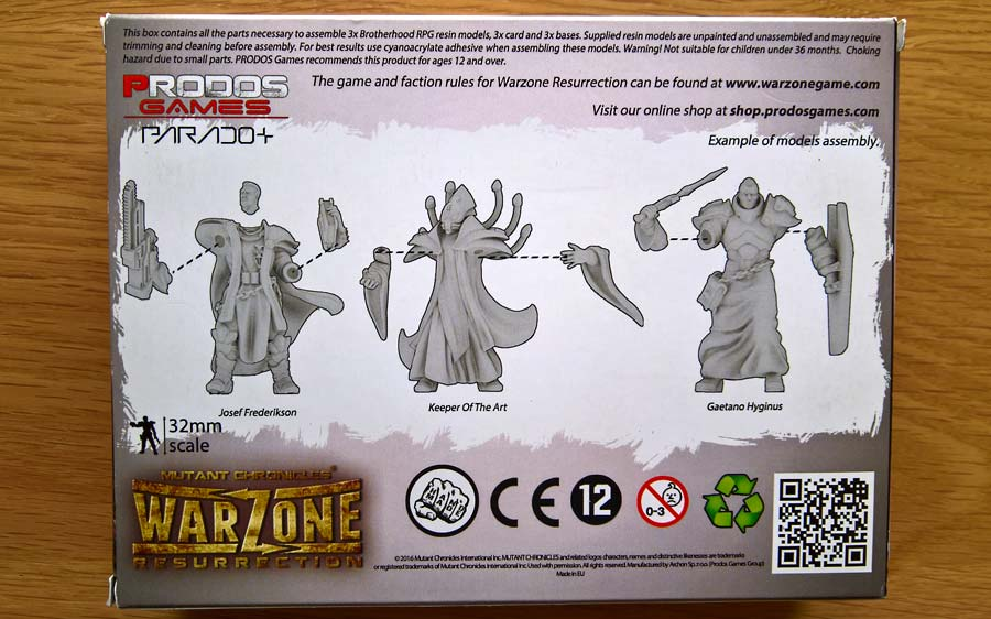 Gaetano Hyginus Brotherhood rpg models