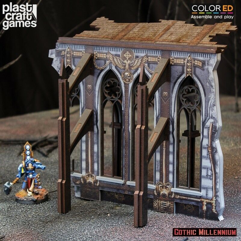 Plast Craft Games - Demi-Ruined Side Wall